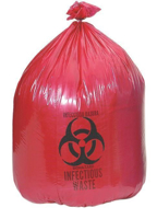 """Picture of """"BIOHAZARD"""" - RED - Can Liner"""