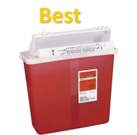 SharpStar™ In-Room™, Red Transparent - 5 Qt - Covidien - 1