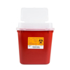 Sharps Container, Medegen, Stackable, Tortuous Path Lid, 2 Gallon - Red - SHP-8707-1