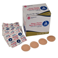 Adhesive Bandage - Sheer Plastic - Spot - Dynarex - 7-8 - ADH-3607-1