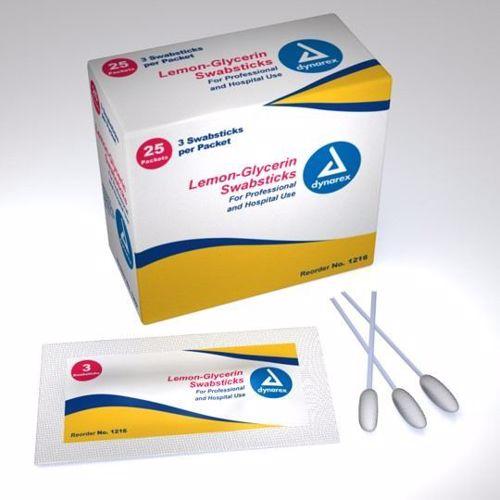 Oral Swap - Dynarex - Toothete - Lemon-Glycerin - 3-Pkg - ORSW-1216-1
