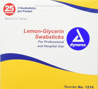Oral Swap - Dynarex - Toothete - Lemon-Glycerin - 3-Pkg - ORSW-1216-2