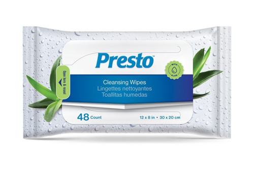 Presto Cleansing Wipes - Product