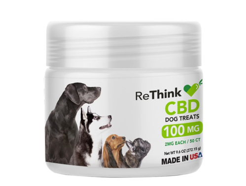 ReThink CBD Treats for Pets - 100 mg - 50 Count - Package
