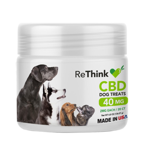 ReThink CBD Treats for Pets - 40 mg - 20 Count - Package