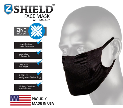 ZShield Face Mask - Black - FM-ZSFMBK-RT - 1