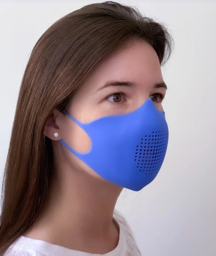 Face Mask - Silicone - FM-SIL1DKBL - 1
