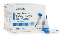 Safety Lancet - McKesson - 23G - 100EA - SLAN-16-PBSL23G - 1